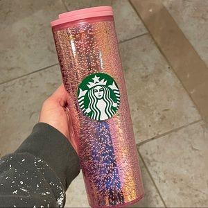 Starbucks holiday pink bubble tumbler